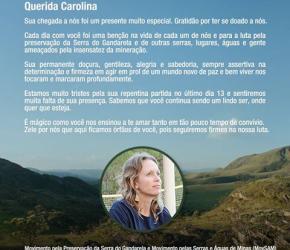 A CIDADANIA HÍDRICA DE  CAROLINA HERMANN do Movimento pela Preservação da Serra do Gandarela – MG