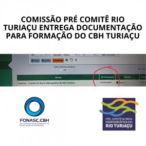 COMISSÃO PRÉ COMITÊ RIO TURIAÇU ENTREGA DOCUMENTAÇÃO PARA FORMAÇÃO DO CBH TURIAÇU
