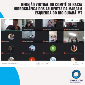 REUNIÃO VIRTUAL DO COMITÊ DE BACIA HIDROGRÁFICA DOS AFLUENTES DA MARGEM ESQUERDA DO RIO CUIABÁ – MT