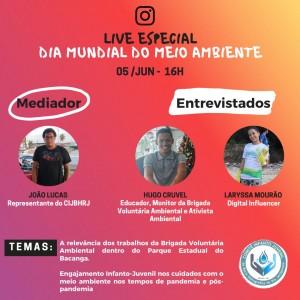 LIVE ESPECIAL COMITÊ INFANTO JUVENIL JENIPARANA – DIA MUNDIAL DO MEIO AMBIENTE