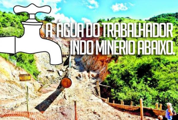 FONASC – RIO SANTO ANTONIO -MG -NÃO A MANABI! EM TEMPOS DE CRISE DAS ÁGUAS É CRIMINOSA A APROVAÇÃO DE MAIS MINERAÇÃO E MAIS MINERODUTO!!