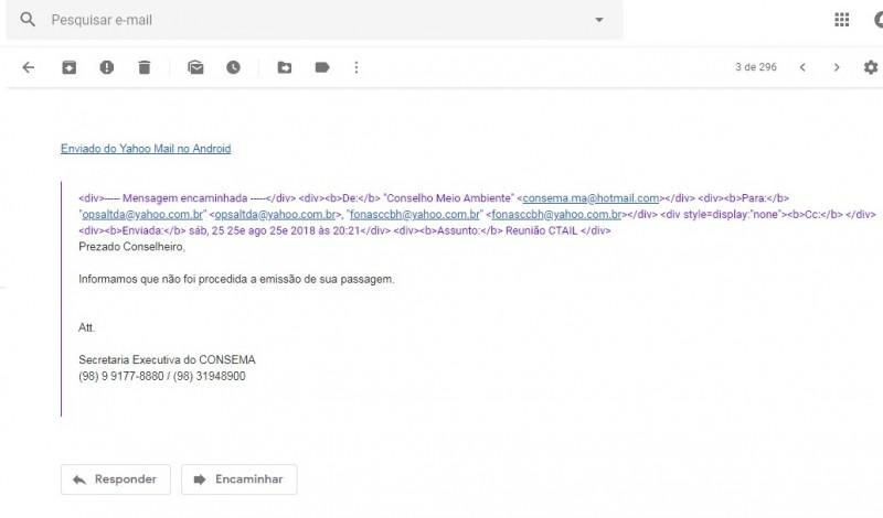print email secretaria executiva
