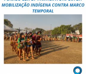 FONASC-CBH DF PARTICIPA E APOIA DA MOBILIZAÇÃO INDÍGENA CONTRA MARCO TEMPORAL